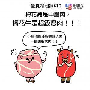 營養冷知識#10:梅花豬是中脂肉;梅花牛是超級瘦肉!營養師解析給你看!