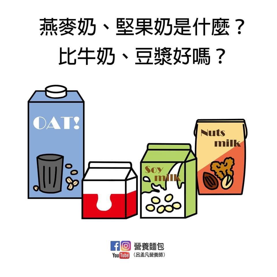 燕麥奶、堅果奶(杏仁奶、核桃奶)是什麼?可以用來取代牛奶、豆漿嗎?讓營養師分析給你看。